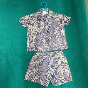 Used, Toddler/boys Hawaiian pair of Shirt&Short